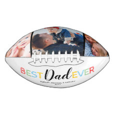 Colorful Best Dad Ever Photo Collage Football