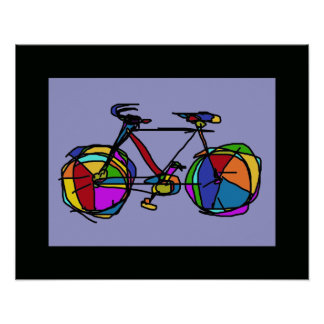 colorful bicycle art wall decor