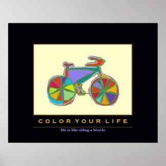 colorful bicycle BIKE ART Poster