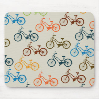 Colorful Bicycle Pattern Mouse Pad