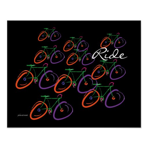 Colorful bicycle poster