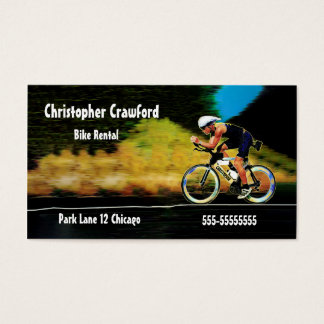 Colorful Bicycle Rider Rent Or Sell A Bike Business Card