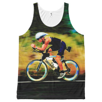 Colorful Bicycle Rider With Your Personal Name All-Over-Print Tank Top