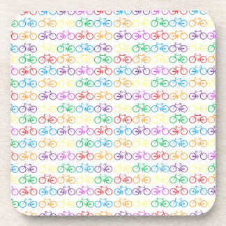Colorful Bicycles Beverage Coaster