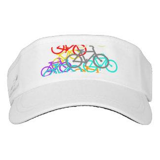Colorful Bicycles Design Visor