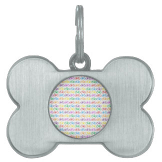 Colorful Bicycles Pet ID Tag