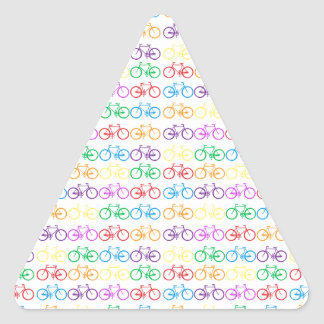 Colorful Bicycles Triangle Sticker