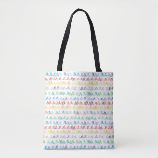 Colorful Bicycling Tote Bag