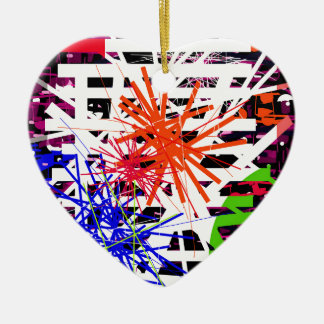 Colorful big bang ceramic ornament