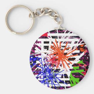 Colorful big bang keychain