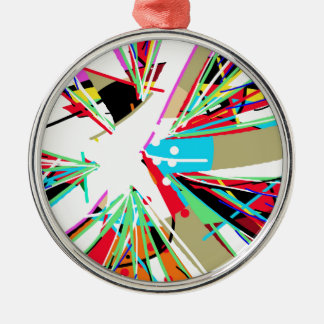 Colorful big bang metal ornament
