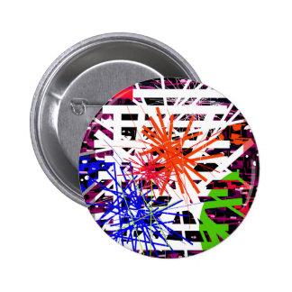 Colorful big bang pinback button