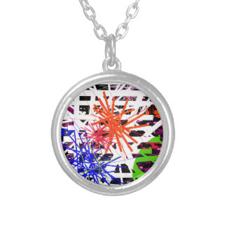 Colorful big bang round pendant necklace