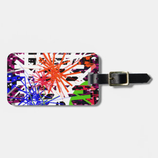 Colorful big bang tag for luggage