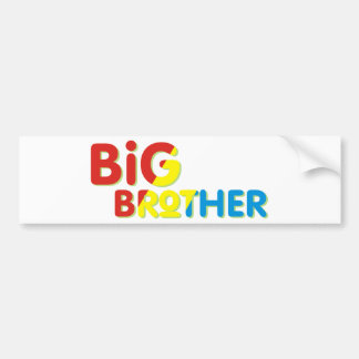 Colorful Big Brother Shirt Bumper Sticker