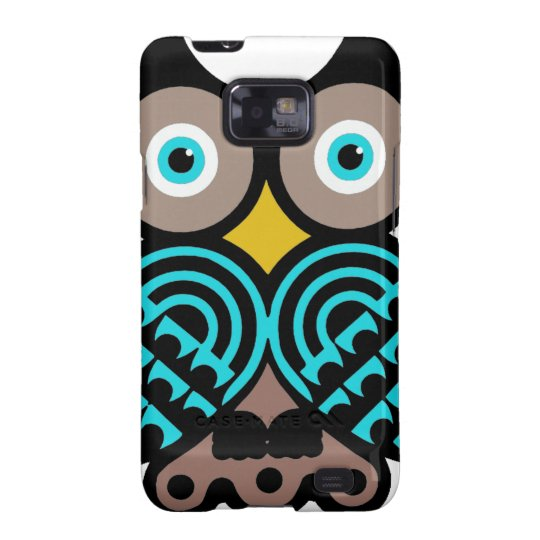 Colorful Big Owl Samsung Galaxy Barely There Case