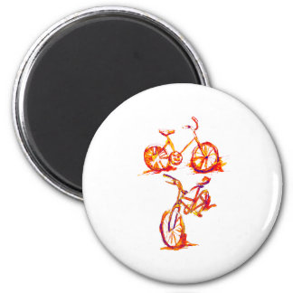 Colorful Bike Designs 2 Inch Round Magnet