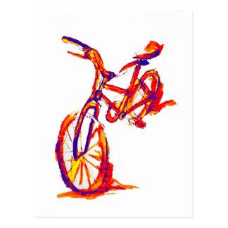 Colorful Bike Designs Postcard