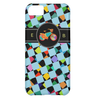 colorful bike geometric pattern cover for iPhone 5C