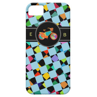 colorful bike geometric pattern iPhone SE/5/5s case