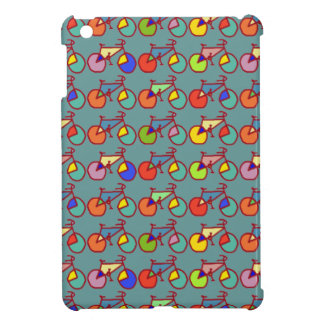 colorful bikes pattern iPad mini cover