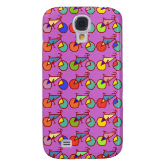 colorful bikes pattern samsung galaxy s4 case