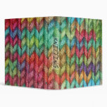 Colorful Binder For the Knitter in Your Life.