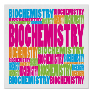 Colorful Biochemistry Poster