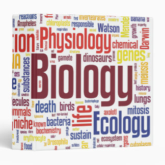 Colorful Biology Wordle Vinyl Binders