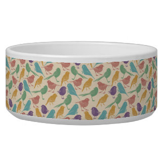 Colorful Bird Design Pet Food Bowl