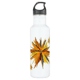 Colorful Bird of Paradise Star Stainless Steel Water Bottle