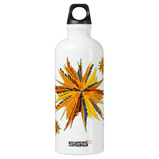 Colorful Bird of Paradise Star Water Bottle