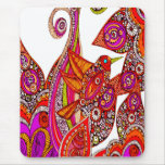 Colorful Bird Of Paradise White Mouse Pad