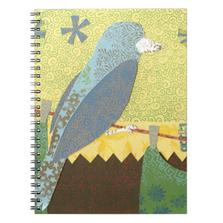 Colorful Bird on a Wire Notebook