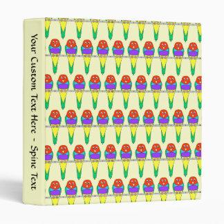 Colorful Bird Pattern. Gouldian Finch. Binder