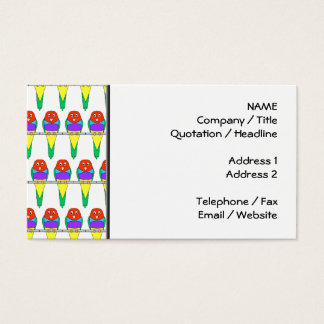 Colorful Bird Pattern. Gouldian Finch. Business Card