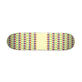 Colorful Bird Pattern. Gouldian Finch. Skateboards