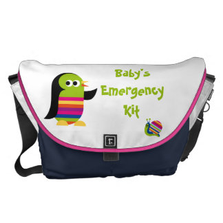 Colorful Bird & Snail Baby Bag Courier Bag