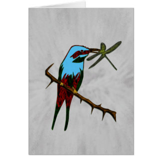 Colorful Bird Watcher Personal Greeting Card