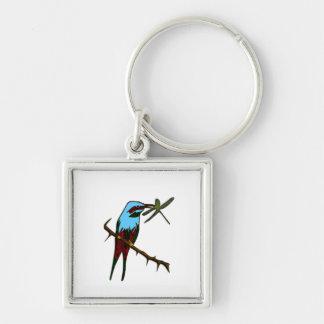 Colorful Bird Watcher Personal Keychain