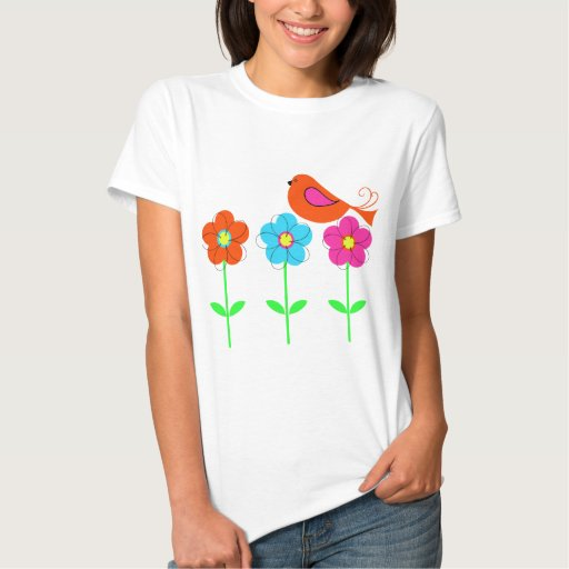 colorful bird with colorful flowers shirts T-Shirt, Hoodie, Sweatshirt