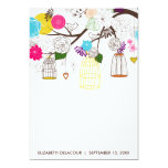 """Colorful Birdcages Floral Baby Shower Invitation 5"""" X 7"""" Invitation Card"""