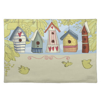 Colorful Birdhouses Placemat
