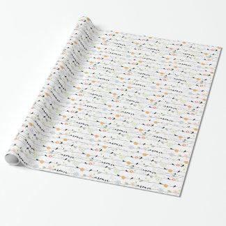 Colorful_birds en un alambre papel de regalo