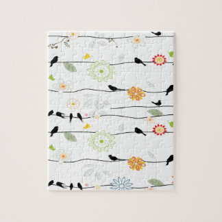 Colorful_birds en un alambre puzzle