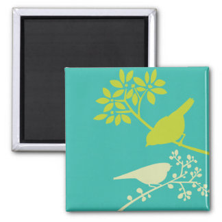 Colorful Birds Magnet