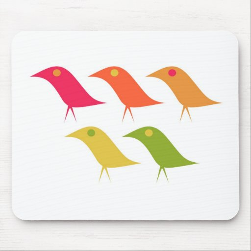 Colorful Birds Mouse Pad