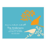 Colorful Birds Moving Announcements Postcard
