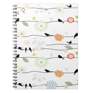 Colorful_birds on a Wire Notebook