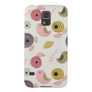Colorful Birds Pink Green Chicks Girly Galaxy S5 Case